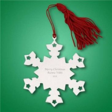 Personalised Nickel Plate Snowflake Tree Decoration